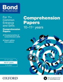 Bond 11+: English: Comprehension Papers : 10-11+ years, Paperback Book