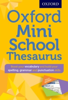 Oxford Mini School Thesaurus, Mixed media product Book