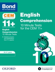 Bond 11+: CEM English Comprehension 10 Minute Tests : 10-11 Years, Paperback / softback Book