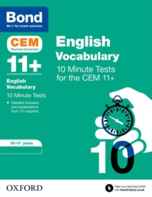 Bond 11+: CEM Vocabulary 10 Minute Tests : 10-11 Years, Paperback / softback Book