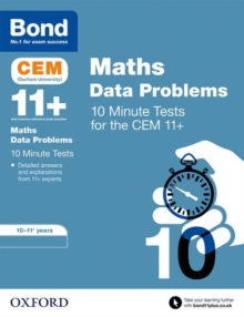 Bond 11+: CEM Maths Data 10 Minute Tests : 10-11 Years, Paperback / softback Book
