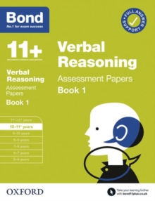 Bond 11+: Bond 11+  Verbal Reasoning Assessment Papers 10-11 years Book 1, Paperback / softback Book