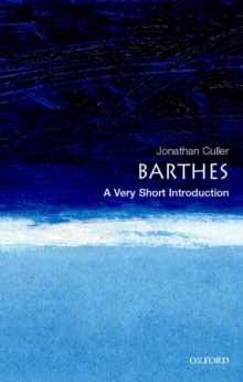 Barthes: A Very Short Introduction, Paperback / softback Book