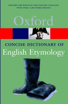 The Concise Oxford Dictionary of English Etymology, Paperback Book