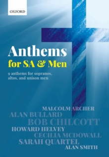 Anthems for SA and Men, Sheet music Book