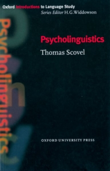 Psycholinguistics, Paperback / softback Book