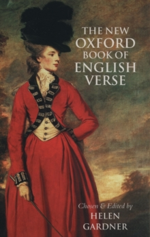 The New Oxford Book of English Verse, 1250-1950, Hardback Book