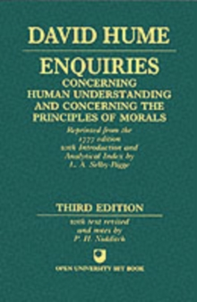 Enquiries concerning Human Understanding and concerning the Principles of Morals, Paperback / softback Book