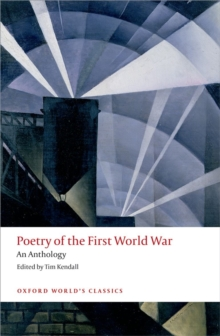 Poetry of the First World War : An Anthology, Paperback Book