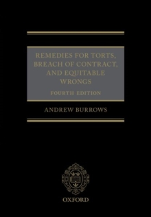 Remedies for Torts, Breach of Contract, and Equitable Wrongs, Hardback Book