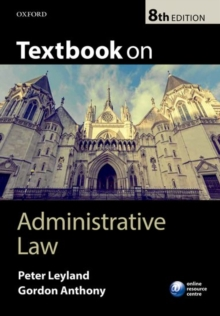 Textbook on Administrative Law, Paperback Book