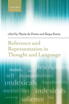 Reference and Representation in Thought and Language, Hardback Book