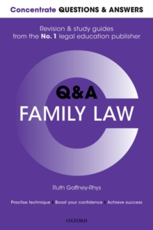 Concentrate Questions and Answers Family Law : Law Q&A Revision and Study Guide, Paperback Book