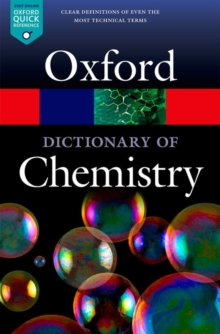 A Dictionary of Chemistry, Paperback / softback Book