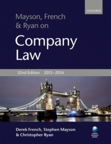 Mayson, French & Ryan on Company Law, Paperback Book