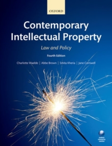 Contemporary Intellectual Property : Law and Policy, Paperback / softback Book