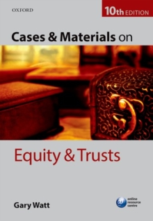 Cases & Materials on Equity & Trusts, Paperback Book