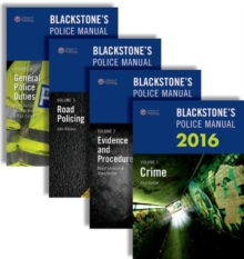 Blackstone's Police Manuals, Multiple copy pack Book