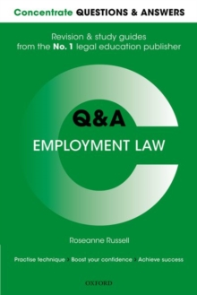 Concentrate Questions and Answers Employment Law : Law Q&A Revision and Study Guide, Paperback Book