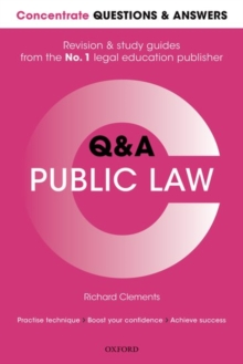 Concentrate Questions and Answers Public Law : Law Q&A Revision and Study Guide, Paperback Book