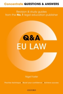 Concentrate Questions and Answers  EU Law : Law Q&A Revision and Study Guide, Paperback Book