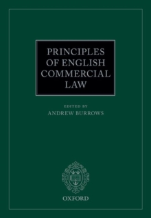 Principles of English Commercial Law, Paperback Book