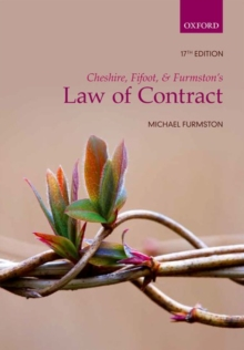 Cheshire, Fifoot, and Furmston's Law of Contract, Paperback Book