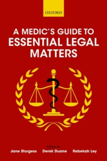 A Medic's Guide to Essential Legal Matters, Paperback / softback Book