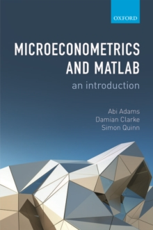 Microeconometrics and MATLAB: An Introduction, Paperback / softback Book