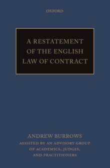 A Restatement of the English Law of Contract, Paperback Book