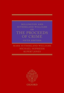 Millington and Sutherland Williams on The Proceeds of Crime, Hardback Book