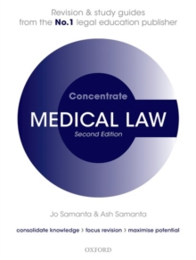 Medical Law Concentrate : Law Revision and Study Guide, Paperback Book