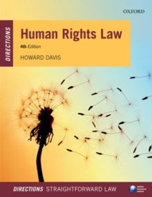 Human Rights Law Directions, Paperback / softback Book