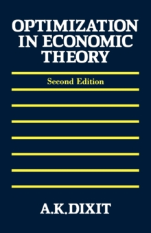 Optimization in Economic Theory, Paperback / softback Book