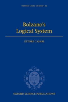 Bolzano's Logical System, Hardback Book