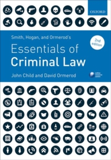 Smith, Hogan, & Ormerod's Essentials of Criminal Law, Paperback Book