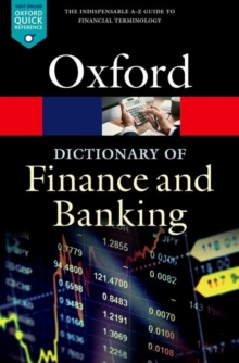 A Dictionary of Finance and Banking, Paperback Book