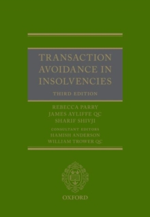 Transaction Avoidance in Insolvencies, Hardback Book