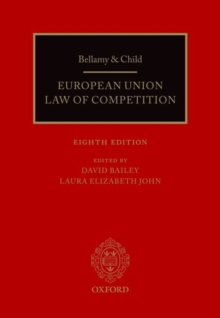 Bellamy & Child : European Union Law of Competition, Hardback Book