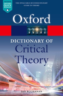 A Dictionary of Critical Theory, Paperback / softback Book