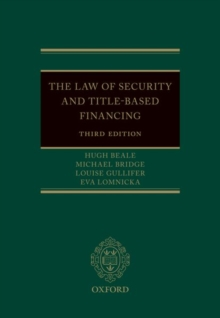 The Law of Security and Title-Based Financing, Hardback Book