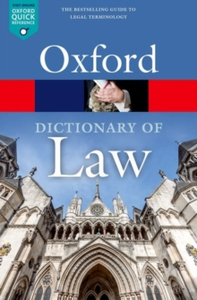 A Dictionary of Law, Paperback / softback Book