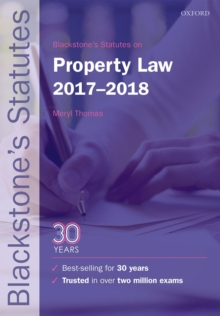 Blackstone's Statutes on Property Law 2017-2018, Paperback Book