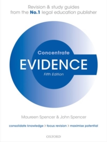 Evidence Concentrate : Law Revision and Study Guide, Paperback Book