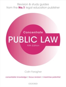 Public Law Concentrate : Law Revision and Study Guide, Paperback / softback Book
