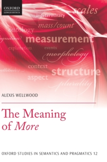 The Meaning of More, Hardback Book