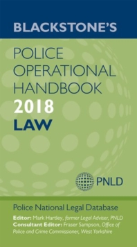 Blackstone's Police Operational Handbook 2018, Paperback Book