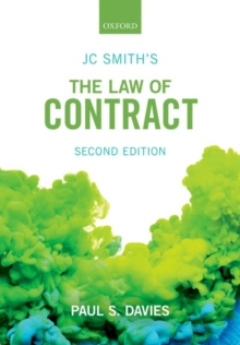 JC Smith's The Law of Contract, Paperback Book