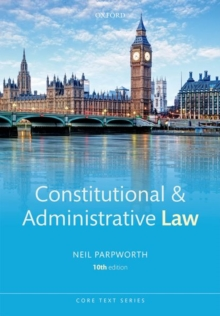 Constitutional & Administrative Law, Paperback / softback Book