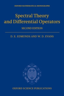 Spectral Theory and Differential Operators, Hardback Book